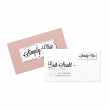 Simply Chic Business Cards